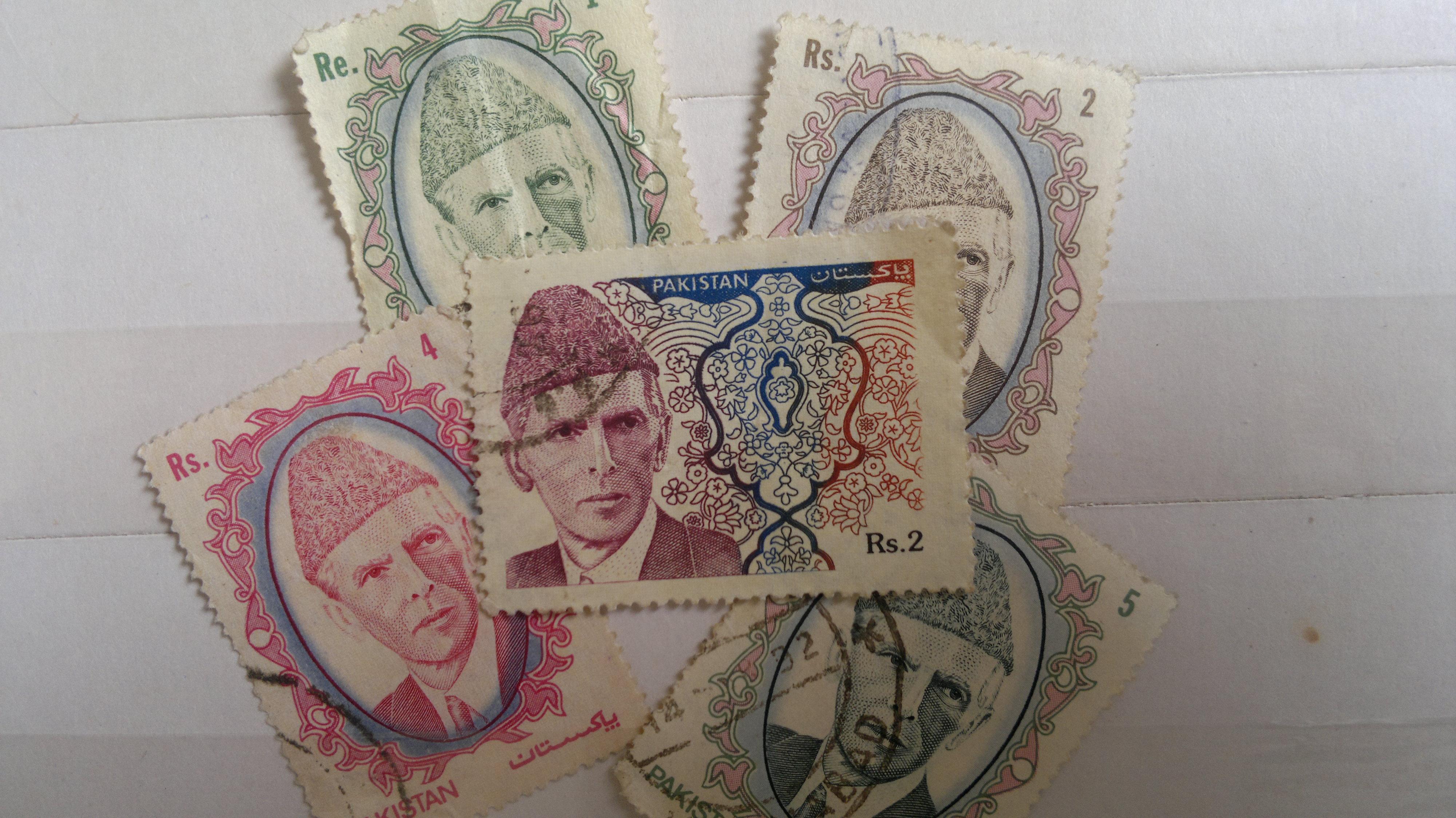 Legacy stamps depicting Quaid-e-Azam