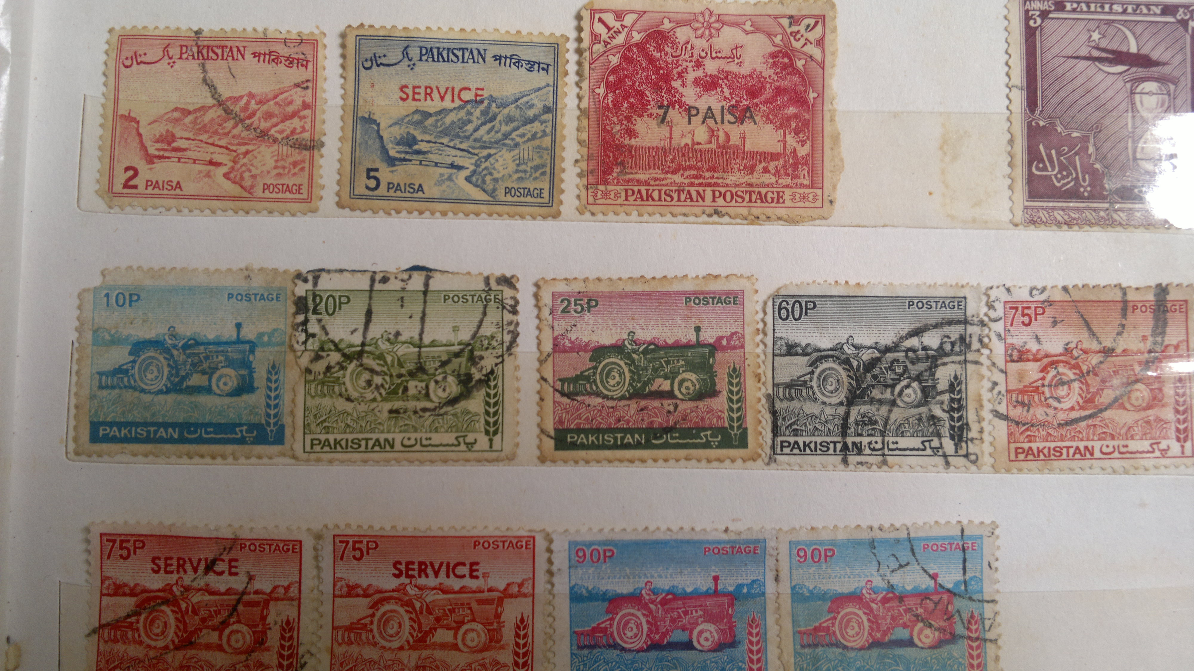 most commonly used postage stamps of past