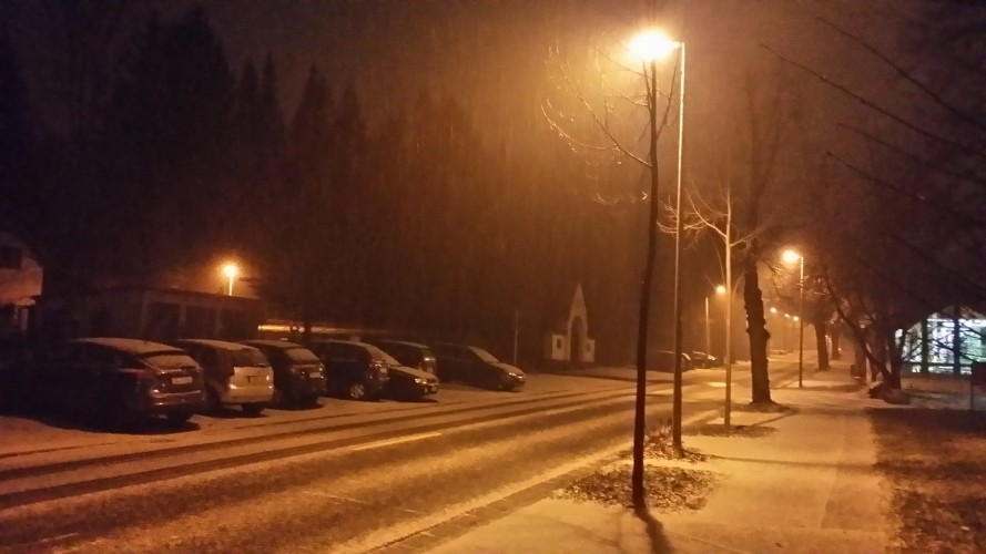 Snowfall in Chemnitz